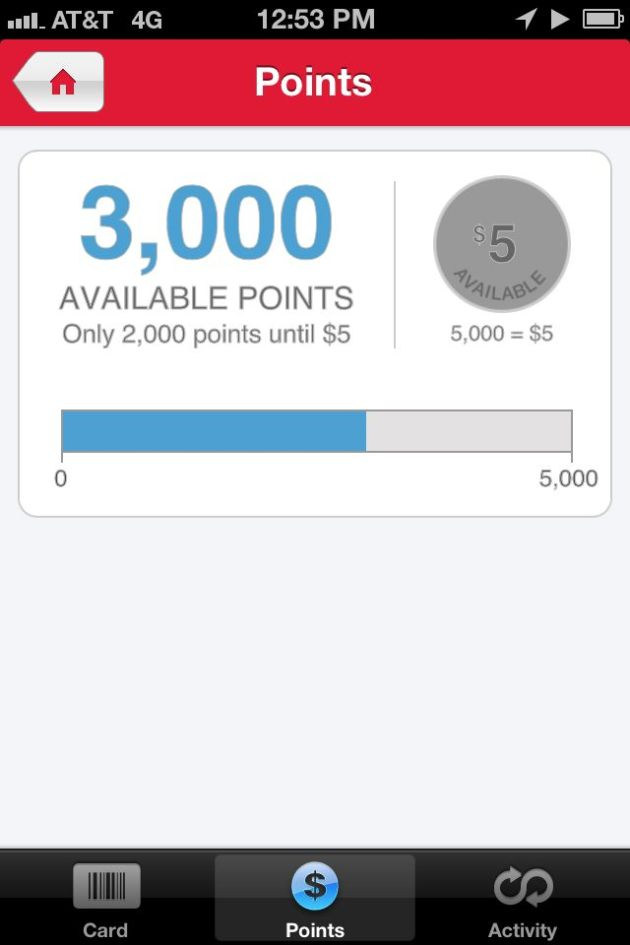 Walgreen's Rewards Points App
